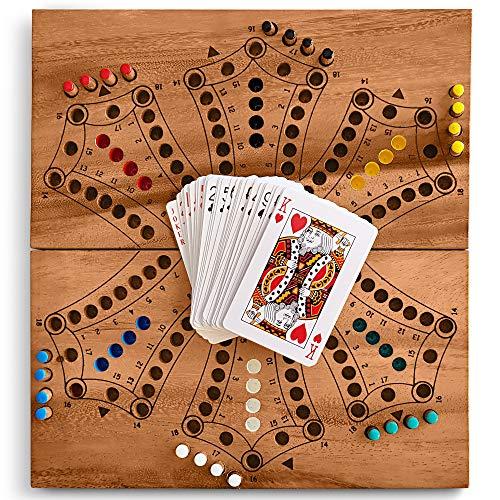 KHAPLO - Jeu du toc en Bois ou tac TIK (modèle pour 6 Joueur