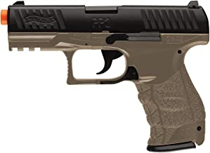 Walther PPQ Spring Powered 6mm BB Pistol Airsoft Gun, Dark Earth Brown