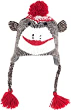 TG Adult Size Sock Monkey Knit Hat with Poly-Fleece Lining