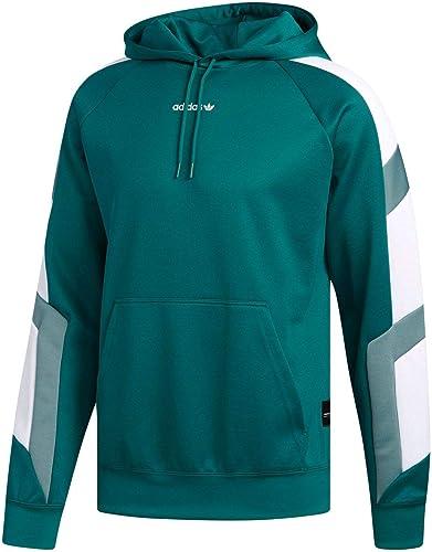 Adidas Sweat à Capuche Homme EQT Block sweat à capuche en Tissu Vert DH5222