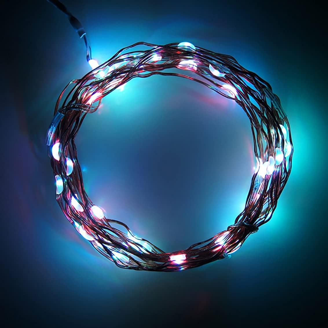 チャネル急流花嫁Ling イルミネーションライト LEDストリングライト 電池式 防水 クリスマス 結婚式 パーティー 飾り (マルチカラー, 2m/20球)