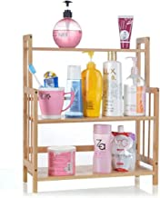 Kitchen Storage Rack, Spice Hob Bathroom Stove Bamboo Multifunctional 3 Layers for Kitchen, Home Storage