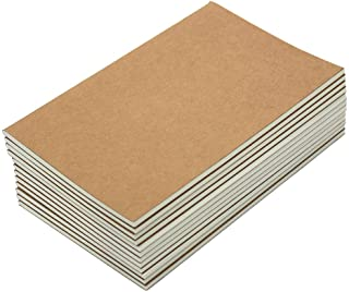 M-Aimee 12 Pack Journal Notebook Kraft Brown Cover Lined Notebooks for Travelers - A5 Size - 5.5 x 8.3 Inches - 80 Lined P...