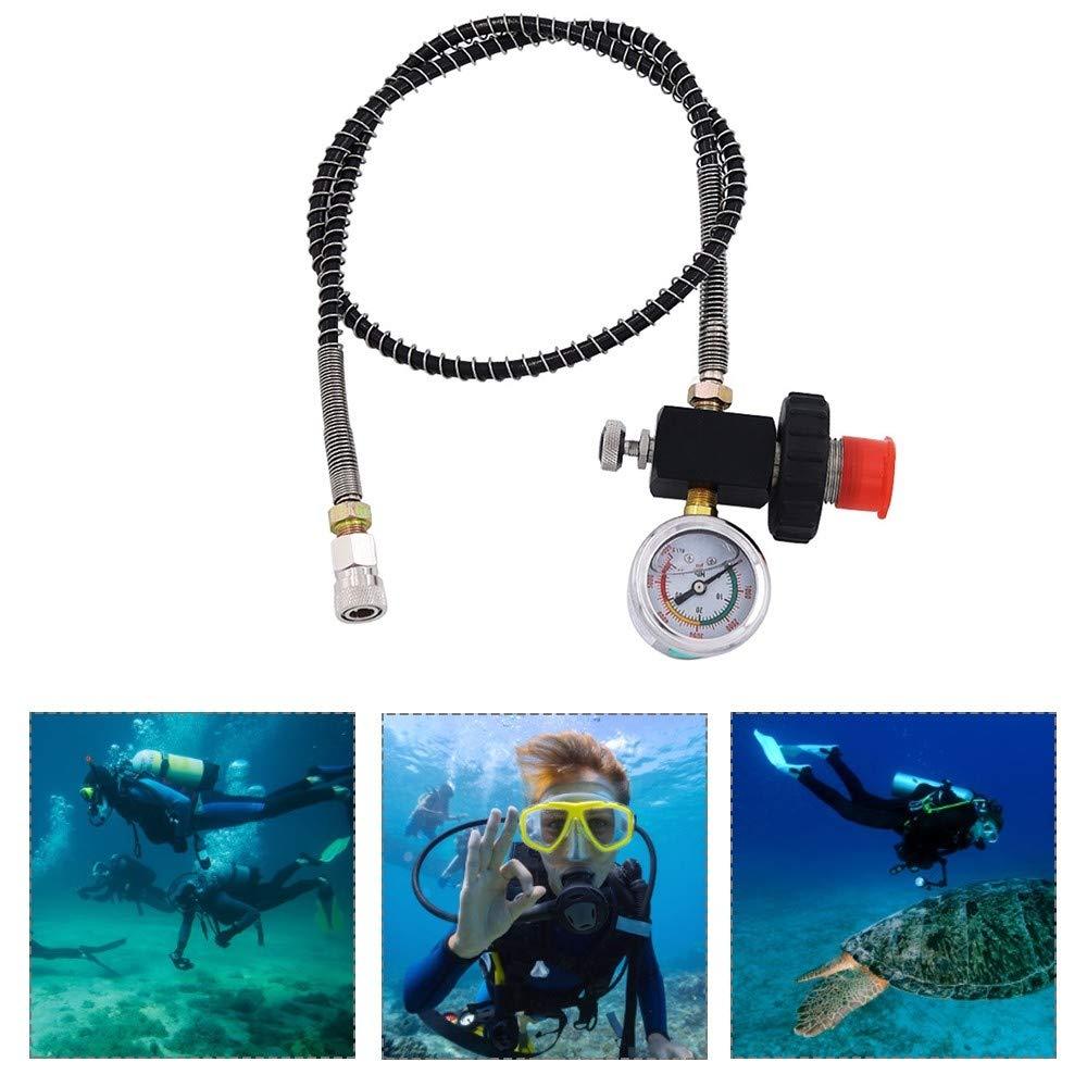 Tubo de ox/ígeno de buceo 24  bomba de aire de alta presi/ón adaptador de recarga con v/álvula de liberaci/ón 40Mpa 6000psi PCP conector de carga adaptador sistema de carga