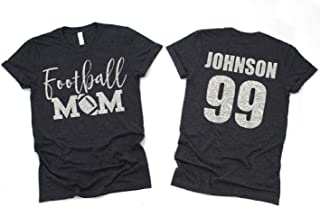 personalized bling football shirts