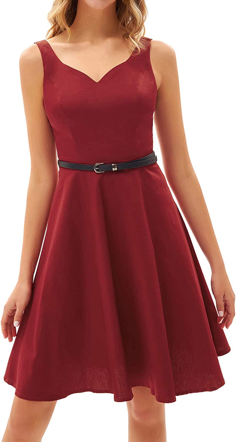 Selling and selling GRACE KARIN Women Sleeveless V-Neck Dress B Branded goods Cocktail A-Line with