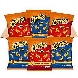 Awesome snacks box containing 48 bags of Cheetos – the ultimate American snacks Family favourite in the USA, the tangy flavours and classic Cheetos crunch are a snack-time hit this side of the pond too A fun alternative to crisps, Cheetos make tasty ...