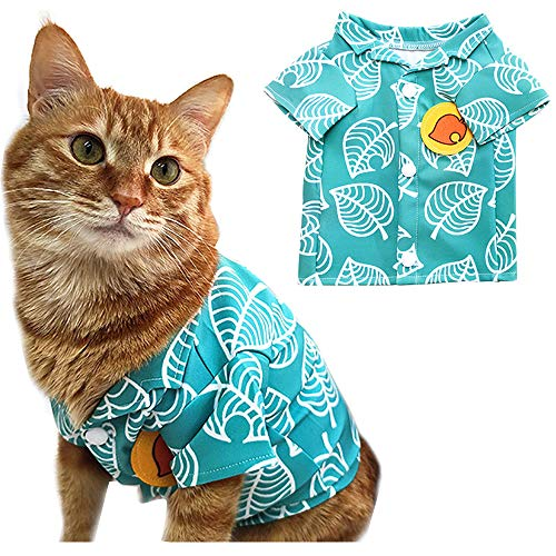 Nook Costume for cat Clothes cat Dress up Small Dog Costume Clothes pet Halloween Cosplay(no hat)