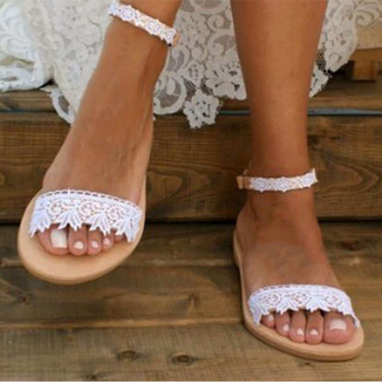 LYYJF Women Ranking TOP18 Flat Slippers Ranking TOP17 Ladies Sandals Sandal Comfortable