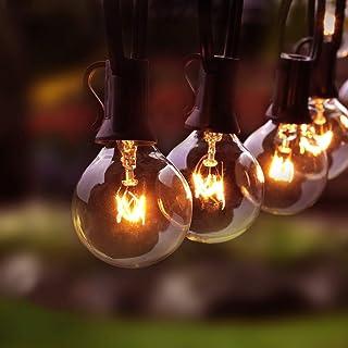 Osaloe Guirlande Lumineuse d'Extérieur et d'Intérieur, Lumières de Cordes de 11 Mètres avec 30+5 Ampoules, Guirlandes Déco...