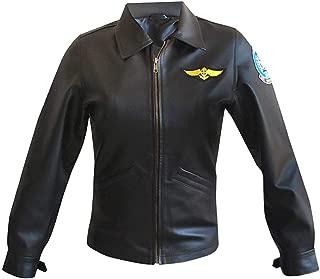 Pilot Aviator Top Gun Kelly McGillis Charlie Leather Jacket