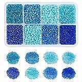 NBEADS 1Caja (sobre 12500pcs) 12/0Ceilán Cristal Redondo Seed Beads Loose Spacer Beads para Joyas Hacer