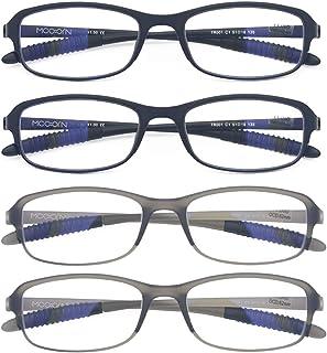 Mcoorn Computer Blue Light Blocking Reading Glasses(Flexible and Lightweight) UV Protection Readers Anti Eyestrain Women Men