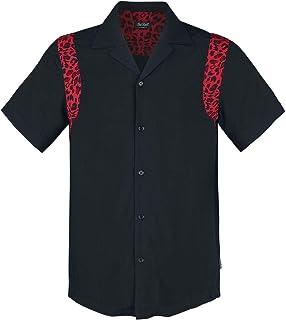 CHET ROCK Camisa Hombre Bolera Detalle Leopardo Ritchie Leo Shirt CRK60005: Amazon.es: Ropa y accesorios