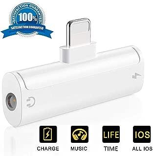 Goefly Adaptador de Auriculares para iPhone XR//XS MAX//X//XS 7//7 Plus Adaptador Auxiliar Lightning a 3,5 mm Jack Audio y Adaptador de Carga 8Plus 10//8