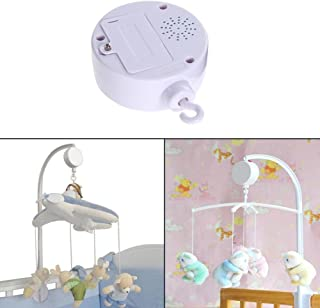 JUYIN Bed Toy Music Box,Baby Sleep Aid Night Light & Shusher Sound Machine & Baby Gift,35 Song Rotary Child Mobile Cot Bed Toy,Battery Powered for Newborn Bellrf