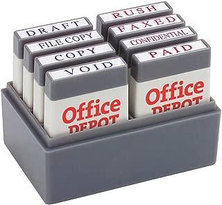 Office Depot Mini Message Stamp Kit, Blue/Red Ink, 032542