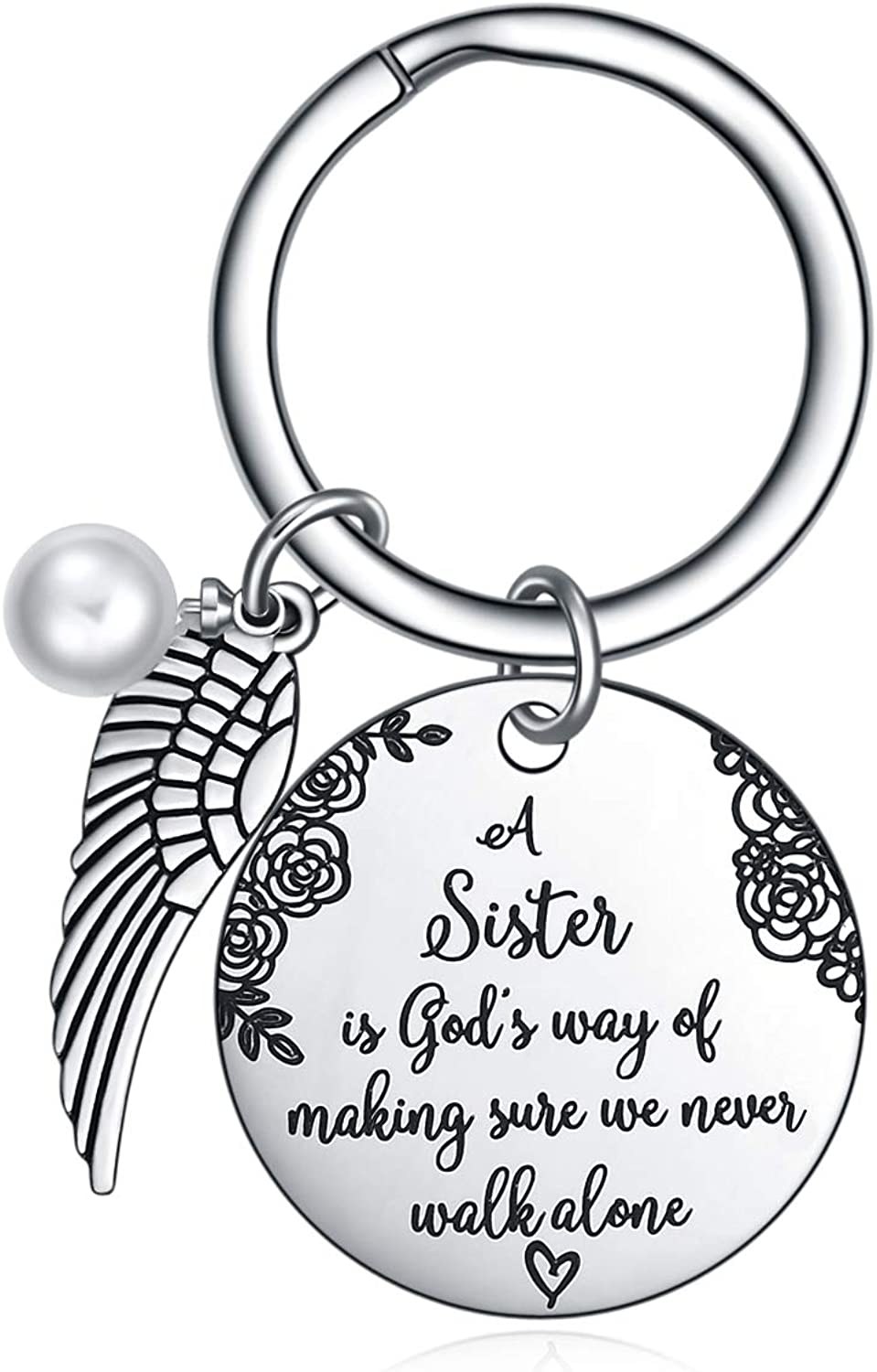 Sister Gift from Keychain God's A Colorado Springs Mall Way is Safety and trust