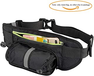 Sireck Waist Pack Running Belt with Water Bottle Holder, Waterproof Hiking Fanny Pack Running Bag for Cycling Runner Fit for iPhone, Samsung, Huawei (Up to 6