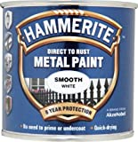 Hammerite 5084857 Direct to Rust Metal Paint - Smooth White Finish 250ML