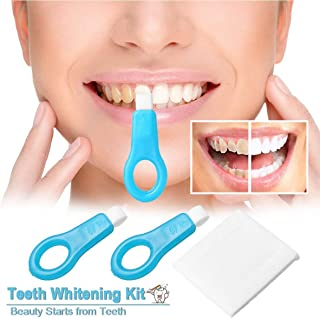 ✅Pro Nano Teeth Whitening Kit Nano Cleaning Brush Tooth Stains Remover Teeth Cleaning Strips for Oral Cleaning Natural Teeth Cleaning Whitener Brush Kit - 1 handles & 2 strips