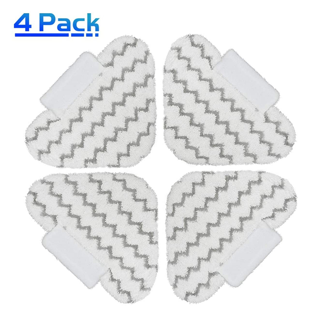 X Home Triangle Steam Mop Replacement Pads for Shark Genius S5003D Hard Floor Cleaning System & Lift-Away Pro Steam Pocket Mop S3973 S3973D S5002 S6001 S6002 Washable Microfiber Dirt Grip Pads (4 pcs)
