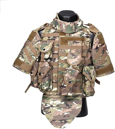 YUNGYE Gilet Tactique De Combat D'armure De Corps De Camouflage De Gilet avec l'habilleHommest De Transporteur Plat De Plaque d'assaut Militaire