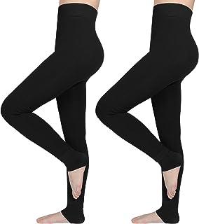 AIMTOP Lot de 2 Legging Femme Hiver, Legging Thermique Femme Legging Hiver, Leggings Polaire Femmes Pantalons Collants Éla...