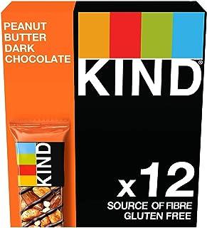 Kind Peanut Butter & Dark Chocolate Nut Bars, 12 X 40G Multipack - Gluten Free