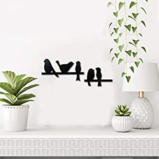 Sehaz Artworks 5 Bird Plaque Sign - Black Wooden Plaque Wall Hangings Home Room & Wall Decor Wall Art