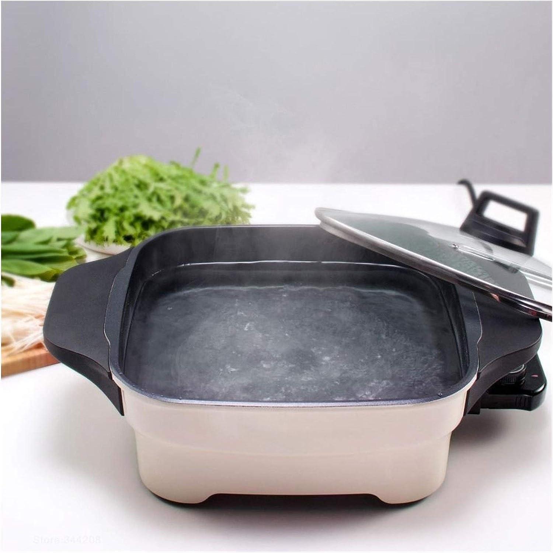 Awsspd Cuiseur à Riz Cuisinière Multi-électrique Maison Chaud Pot Chaud Cuisine Panneau Cuisinière à 360 ° Chauffage Régulation en continu de Chauffage (Color : White) Black