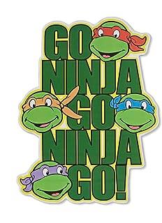 Silver Buffalo NT5506 Teenage Mutant Ninja Turtles Go Ninja Go! Die Cut Sign, 7 x 13 inches