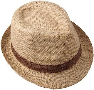 Dantiya Little Boys' Kids Linen Straw Band Fedoras Hat Caps