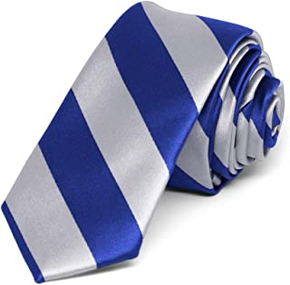 royal blue and silver tie