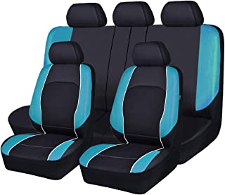 HORSE KINGDOM Universal Car Seat Covers Faux Leather with...