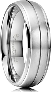 THREE KEYS JEWELRY Titanium Wedding Rings Fashion Bands for Mens Womens