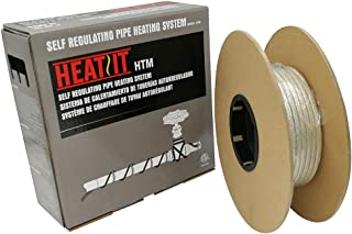 HEATIT Mobile Home 100-feet HEATIT HTM Braid Self Regulating heating cable Water Line Freeze Protection