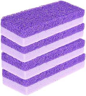 YAIKOAI 5 Pack Purple Pumice Stone Sponge 2-in-1 Feet Callus Remover Pedicure Stone Foot Scrubber Home Pedicure Exfoliation for Feet Hands Dead Skin Exfoliation