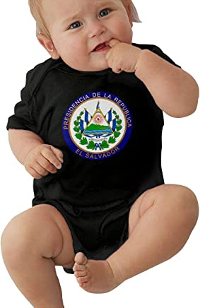 Tnghhg - Overol de Manga Corta para bebé, Unisex, diseño de Escudo de El Salvador