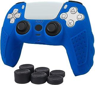 Estuche para PS5 DualSense Controller Funda protectora de piel de silicona antideslizante Estuche para controlador PS5 Gri...