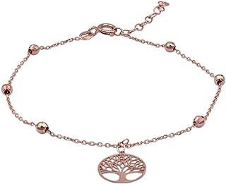 Bracciale in oro rosa donna, albero della vita. Tutto oro 14K, peso gr 1.3