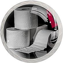 AITAI Toiletpapier ronde kast knop 4 Pack trekt handgrepen