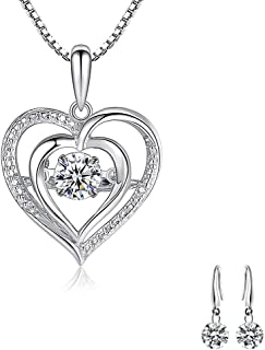 Collana donna Love Beats Pendant Clavicle Chain 5A Ciondolo Cubic Zirconia Collana in argento Donna
