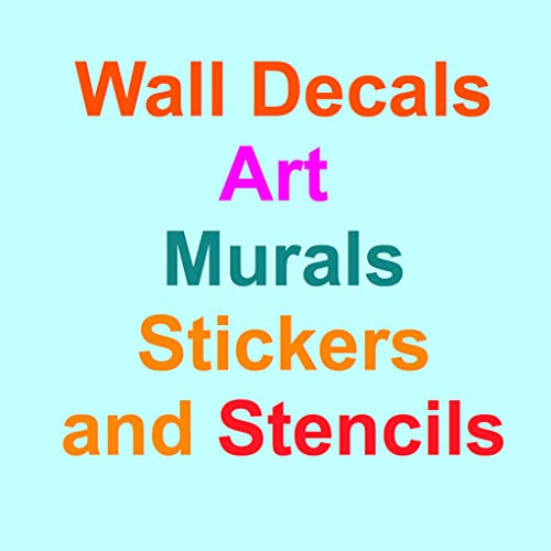 Wall Decals, Art, Murals, Stickers and Stencils