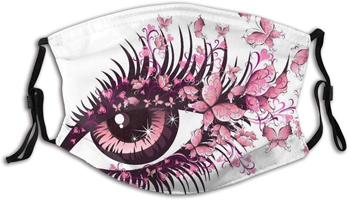 famous BGNHG UnisexReusableNoseFaceCover,Fairy Female Butterf Eye Super popular specialty store