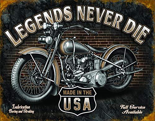 Desperate Enterprises Legends - Never Die Tin Sign, 16' W x 12.5' H