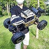 MUMUMI 1/8 aleación Escalada RC Buggy, cuatro ruedas motrices Montaña Bigfoot rc camiones, USB fuera de la carretera de carga RC coche, vehículo Amortiguador RC con luces LED, control remoto de coches