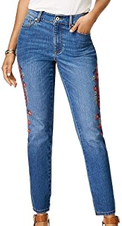 Tommy Hilfiger Womens Embroidered Skinny Jeans Sea Breeze 2