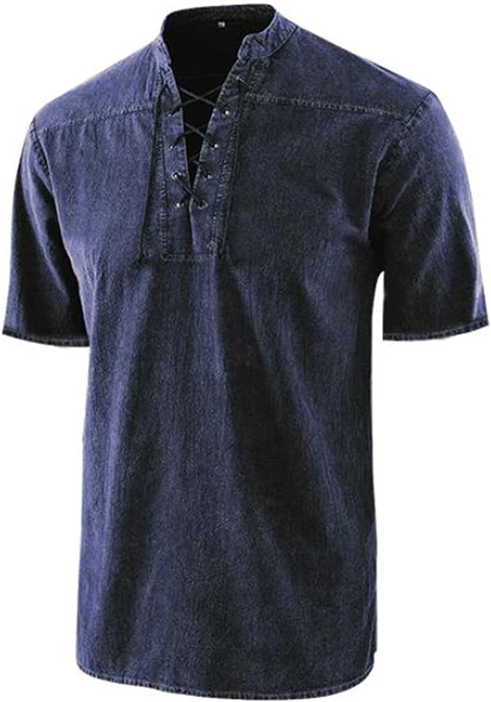 Mens Shirts Big and Tall Short Sleeve T Shirt Casual Summer V Neck Tops Vintage Hippie Tees Fashion Beach Shirts