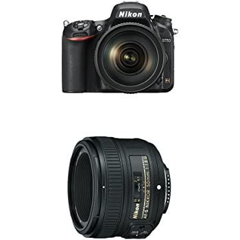 Nikon D750 FX-format Digital SLR Camera w/ 24-120mm f/4G ED VR Auto Focus-S NIKKOR with 50mm f/1.8G Lens with Auto Focus for Nikon DSLR Cameras